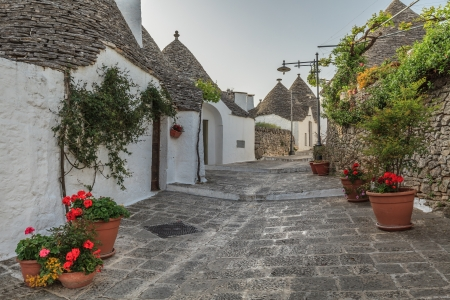 Typical trulli houses in Alberobello. Italy, Puglia  Stock Photo