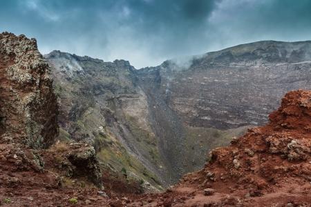 lave: View of Vesuvius crater in Naples, Italy
