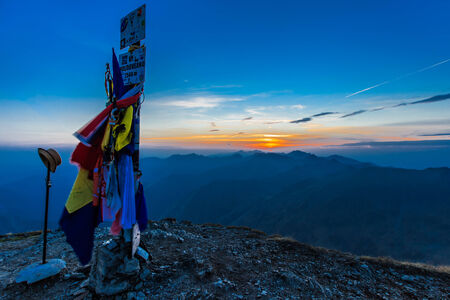 Fagaras Mountains, Romania. The Moldoveanu Peak, 2544m. Stock Photo