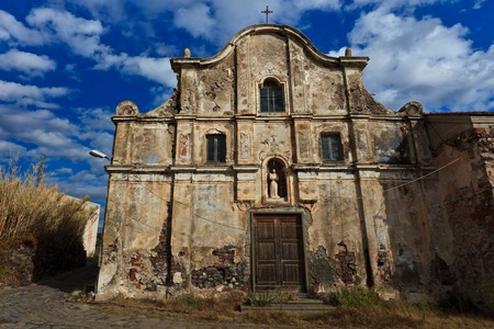 capraia: ruins of the island Capraia  Elba, Tuscany  Italy Stock Photo