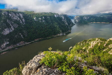 gorges: landscape in the Danube Gorges Cazanele
