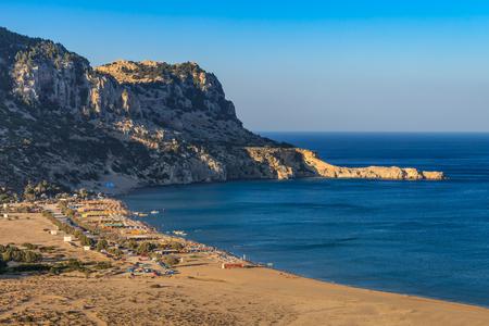 tsampika: Tsambika beach - the most popular tourist destination in Rhodes