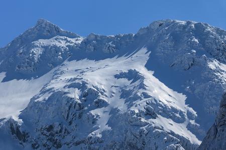 Negoiu peak in winter. Fagaras Mountains, Southern Carpathians, Romania