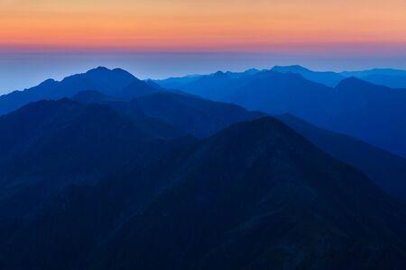 before sunrise in Fagaras Mountains, Southern Carpathians, Romania