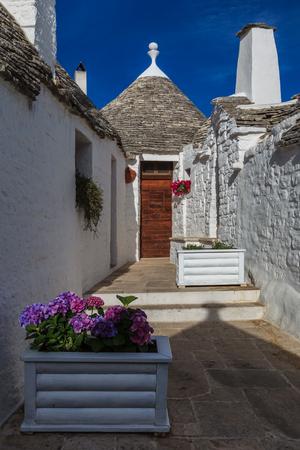 trulli: Typical trulli houses in Alberobello. Italy, Puglia Editorial