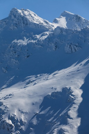 fagaras: Negoiu peak in winter. Fagaras Mountains, Southern Carpathians, Romania