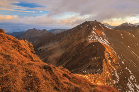 fagaras: Sunrise in Fagaras Mountains. Southern Carpathians, Romania