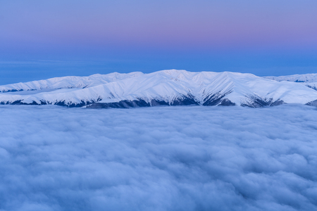 fagaras: before sunrise in the Fagaras Mountains, Romania Stock Photo