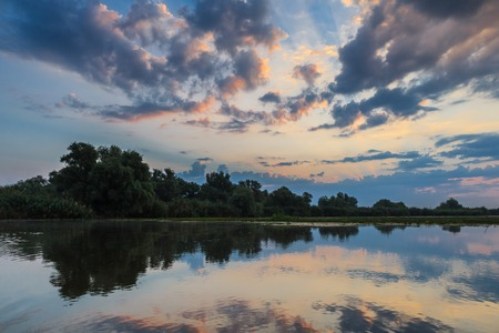 danube delta: before sunrise in the Danube Delta, Romania