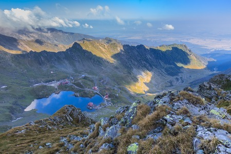 balea: Landscape from Balea Lake in Fagaras Mountains, Romania