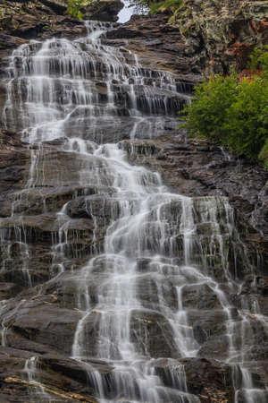 Capra waterfall in Fagaras Mountains, Romania photo