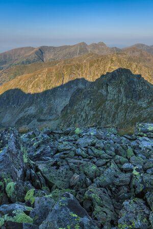 The Fagaras Mountains. Southern Carpathians in Romania Stock Photo