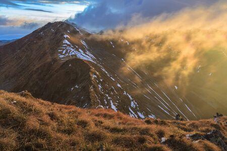 fagaras: Sunrise in Fagaras Mountains. Southern Carpathians, Romania