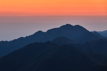 fagaras: before sunrise in Fagaras Mountains, Southern Carpathians, Romania