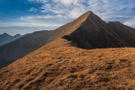 highest: Landscape in Charpathian Mountains of Moldoveanu, the highest summits of Romania Moldoveanu 2544 m Stock Photo