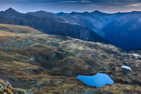 fagaras: Fagaras Mountains. Galbena Lake in Southern Carpathians, Romania Stock Photo