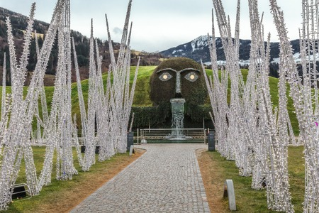 swarovski: Entrance to Swarovski Kristallwelten exhibition. Near Innsbruck, Austria