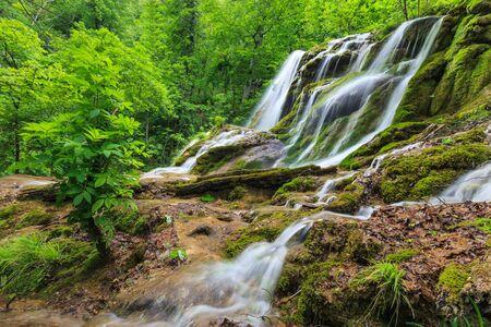 water fall: Beusnita Waterfall in Beusnita National Park, Romania