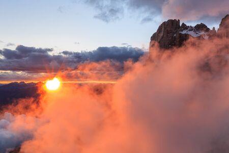 martino: sunset landscape from Rosetta Mountain - San Martino di Castrozza, Italy
