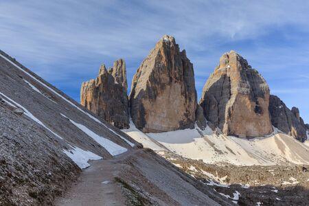 dolomite: Tre cime di Lavaredo. Dolomite Alps, Italy Stock Photo
