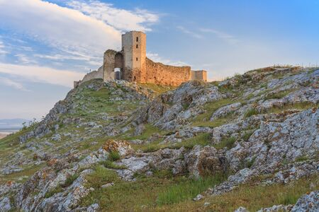 arhitecture: ruins of ancient Enisala royal castle in Dobrogea, Romania