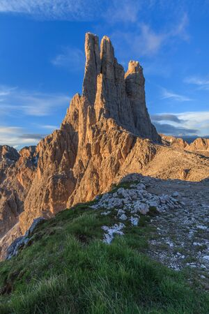 vajolet: Vajolet towers in Dolomites, Val di Fassa, Italy