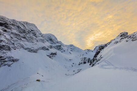 fagaras: beautiful sunset in the Fagaras Mountains, Romania