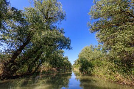danube delta: beautiful landscape in the Danube Delta, Romania Stock Photo