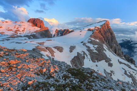 Rosetta Mountain in the Pale of San Martino, Dolomites, Italy Stock Photo