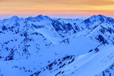 beautiful sunset in the Fagaras Mountains, Romania