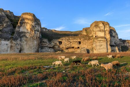 A view from ruins of Carsium old city, Harsova. Carsium was a fort built in the Roman province of Moesia in the 1st century AD.