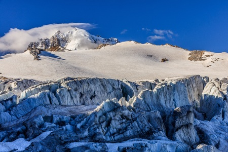 glacier du Tour in French Alps. Mont Blanc Massif Stock Photo