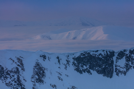 before sunrise in the Fagaras Mountains, Romania Stock Photo
