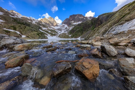 lac: Lac Blanc in Mont Blanc Massif, France