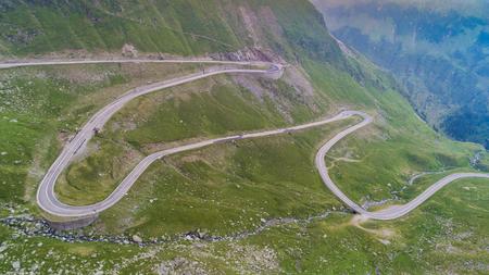 Transfagarasan mountain road in Romanian Carpathians, Romania