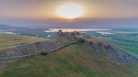 Aerial view from Enisala fortress. Dobrogea, Romania Reklamní fotografie