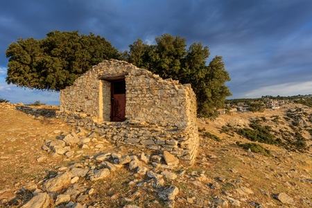 Traditional houses in Kastro village (oldest village on the island) on the Thassos Island, Greece