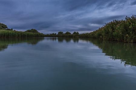 dark clouds in the Danube Delta, Romania