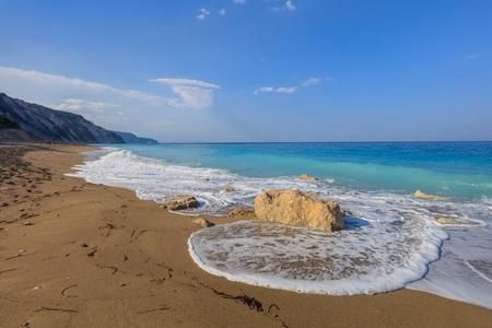 ionio: Gialos beach on the island of Lefkada, Greece Stock Photo
