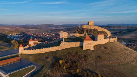 bastion: Medieval Rupea citadel first attested in 1324 is one of the oldest archaeological sites in Romania
