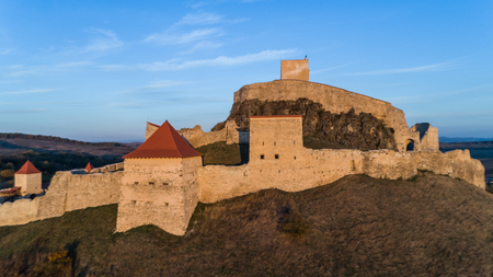 Medieval Rupea citadel first attested in 1324 is one of the oldest archaeological sites in Romania