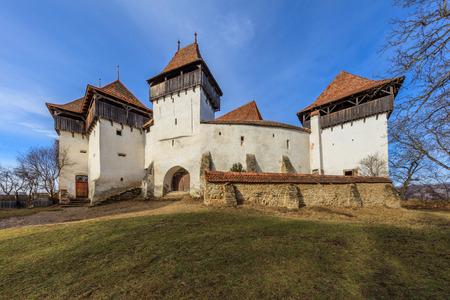 Viscri fortified church in Transylvania. Romania, Europe
