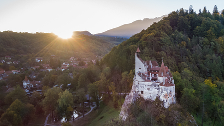 The medieval Castle of Bran known for the myth of Dracula. Brasov Transylvania. Romania
