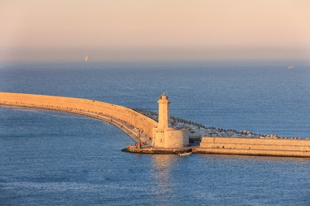 Lighthouse at the port of Livorno, Italy