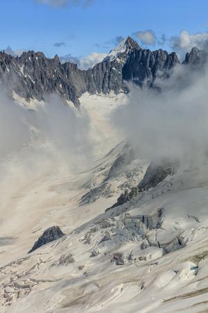 Glacier des Rognons. View from Grands Montets (3275m), France