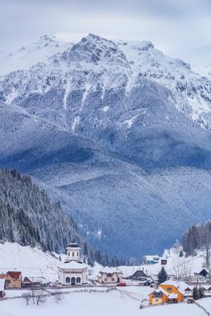 houses in Fundatica village, Romania 版權商用圖片