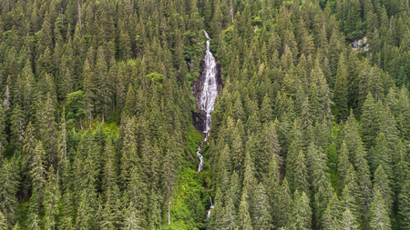 Waterfall Tumultuous in the Bad Valley. Fagaras Mountains, Romania