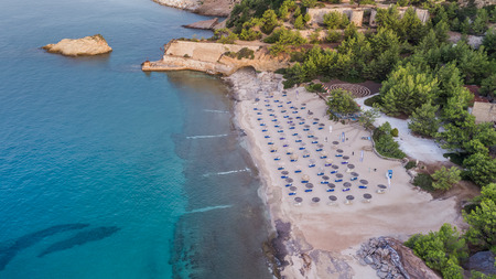 aerial view of Metalia beach. Thassos island, Greece Reklamní fotografie