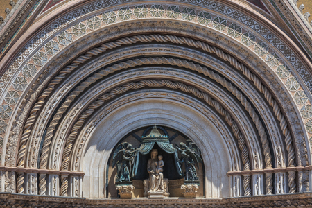 detail of the Cathedral of Orvieto. Umbria, Italy.