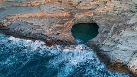 Giola, natural sea water pool located on Thassos island, Greece